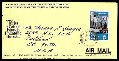 1983 Turks & Caicos Islands Medical Issue Per Airmail To Us Cover
