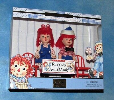 Kelly & Tommy As Classic Raggedy Ann & Andy Dolls 4in Brand New NRFB