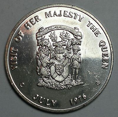 July 1976 Visit of Her Majesty the Queen medal