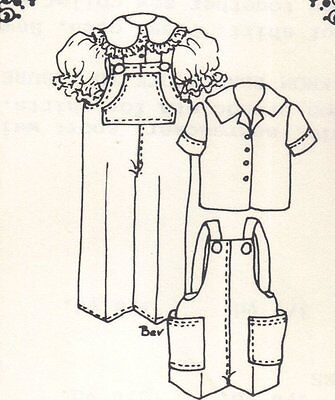 """Sewing  Clothes Coat Pattern fits 13 14"""" Little Darling  Kish Betsy dolls 490"""