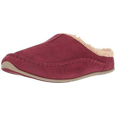Deer Stags 0737 Mens Nordic Red Faux Suede Mule Slippers Shoes 9 Medium (D) BHFO
