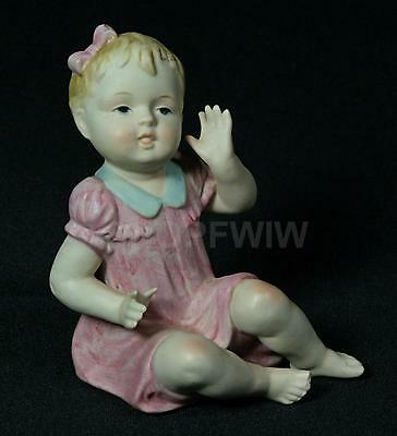 Vintage Bisque Girl Piano Baby Germany