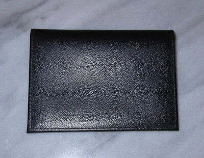Womens Black Leather Card Wallet by Rico Cowhide Mini Classic New