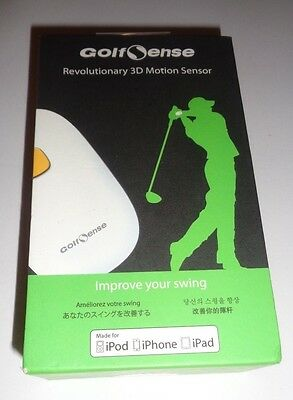 New Seal Golf Sense 3D Motion Sensor Analyzer Wearable White Improve Your Swing