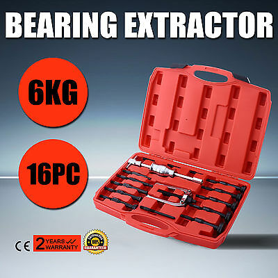 16PCS Bearing Extractor Set Inner Internal Blind Remover Bushes Puller New