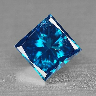 0.40 Cts AMAZING RARE QUALITY ROYAL BLUE COLOR NATURAL DIAMONDS- SI1