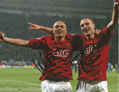 Manchester United Wes Brown Nemanja Vidic Autographed Signed 8x10 Photo COA A