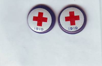 1919 American Red Cross 2 Donation Pins Metal Wwi?