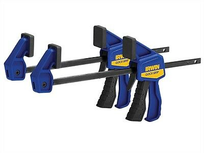 IRWIN Quick-Grip T530062EL7 Micro Clamps Twin Pack 100mm (4in)