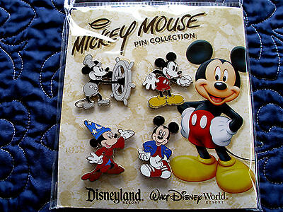 Disney * MICKEY - THROUGH THE YEARS * New in Package - 4 Pin BOOSTER Set