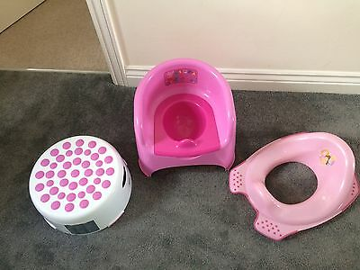 Toilet Training Set Peppa Pig Potty And Princess Seat And Stool Great Condition