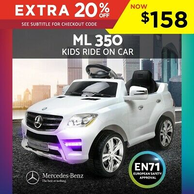 Kids Ride-On Car Licensed Mercedes-Benz ML350 Electric Toy Remote Sport White