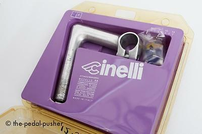 CINELLI Quill Stem 100mm-Road Bike 25.8-26mm clamp Vintage Silver