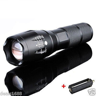 8000Lumen LED 18650/AAA Flashlight Zoomable Torch Focus Flashlight Lamp Gift MT