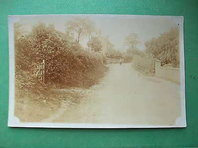 C1910 Photograph- Postcard:  Unknown Lane + Houses - Mystery Place - County?.