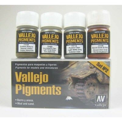 (11,34€/100ml) Vallejo Pigmente Set Mud and Sand  4 x 30ml 73.197