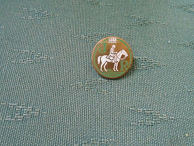 Unknown Vintage Jr  & Horse - Religious ? Enamel Pin Badge - Miller