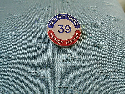 Bath City Council Hackney Carriage - Taxi Numbered 39 Enamel Pin Badge