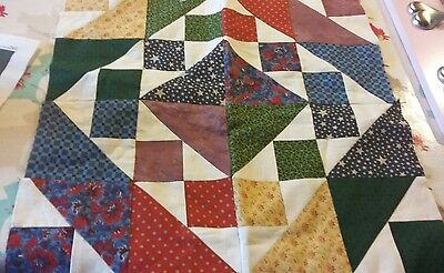 "Square Patchwork 16"" x 16""  Sewing Machine Made"
