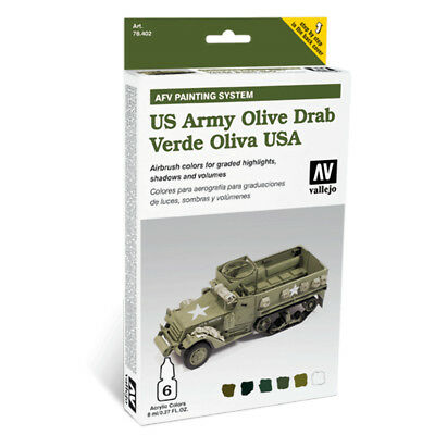 (24,54€/100ml) Model Air AFV Armour Painting System US Army Olive Drab Farbenset
