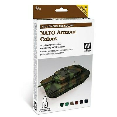 "(24,54€/100ml) Vallejo AFV Amour Painting System "" Nato Camouflage"" 78413 Airbru"