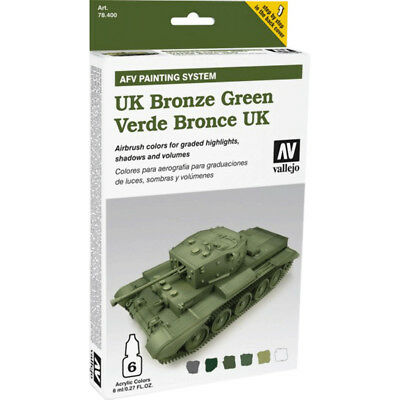 (24,54€/100ml) Vallejo AFV Armour Painting System UK Bronze green 78407 Airbrush