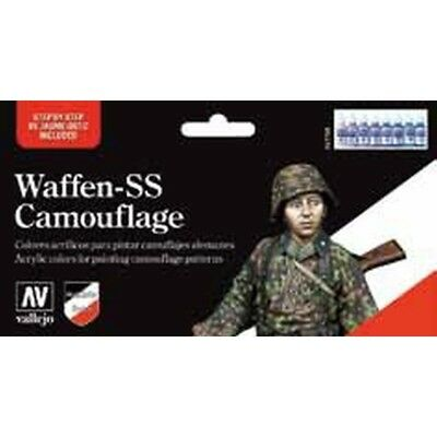 "(17,37€/100ml) Vallejo Model Color "" Waffen SS""  Airbrush Farben Set 570180"