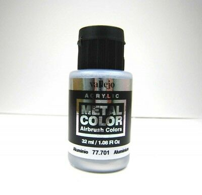 (20,47€/100ml) Vallejo Metal Colors 701 Aluminium 32ml Airbrush Farbe