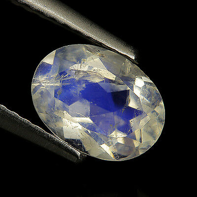 Nice 1.12 Ct Natural India Blue MOONSTONE Oval Gemstone @ See Video !!