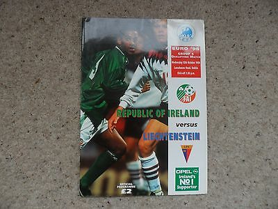 Republic of Ireland v Liechtenstein 1994-1995 Oct. 12th Euro 96 Qualifier