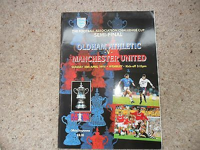 Oldham Athletic v Manchester United arp. 10th 1993-1994 F A Cup Semi Final