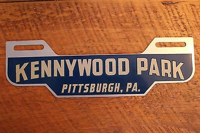 Rare Unused Kennywood Park Pittsburgh Pa. Blue Reflective  License Plate Topper