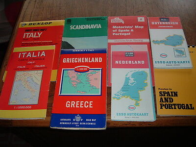 EUROPE    8 x MAPS  see scan   SELLING FOR DOG RESCUE