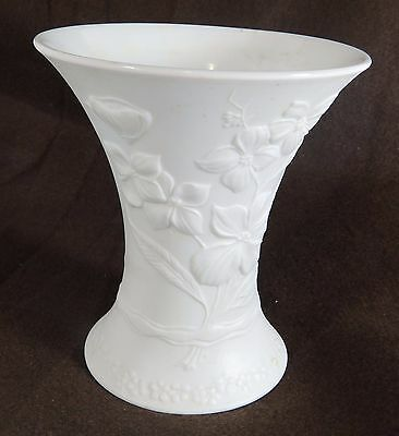 Kaiser Germany White Bisque Vase 0349 Signed M Frey