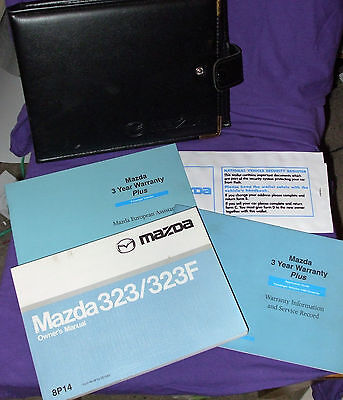 Mazda 323 / 323F Owners Handbook/Manual and Wallet 98-00 Mint Condition