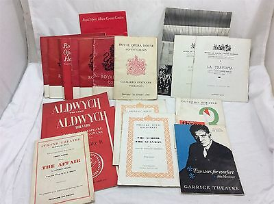 Vintage collection of London Opera, Theatre and Ballet Programmes circa 1960