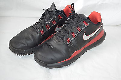 Nike TW 14 Mens Golf Shoes size UK 10/EU 45 Black/Red