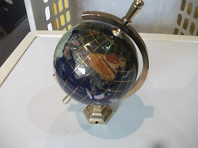 Globe ( Semi Precious Stone And Brass )