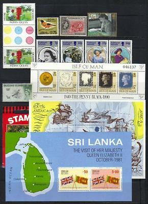 Commonwealth Qeii Mostly U/m Selection Incl Sets, Booklet & M/s