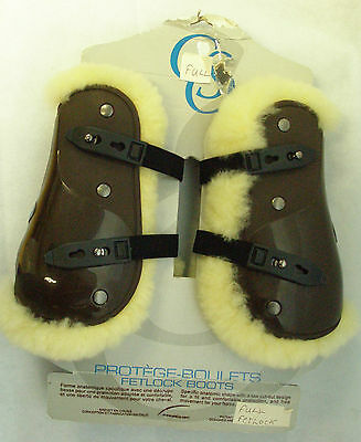CSO Tendon/Fetlock boots *REDUCED* Microfibre Fur lined. Brown boots. Full