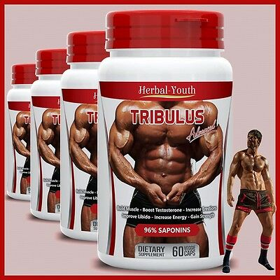 Tribulus Terrestris 96% Saponins Big Muscle Testosterone Booster Pills Capsules