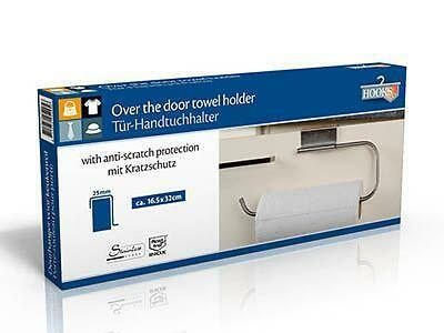 Stainless Steel Kitchen Paper Towel Roll Holder Over Door Rail