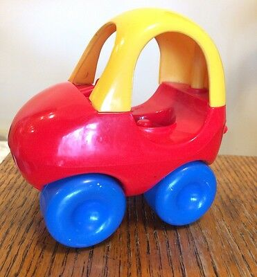 Little Tikes Toddle Tots Vintage Red & Yellow Cozy Coupe Car Vehicle EUC