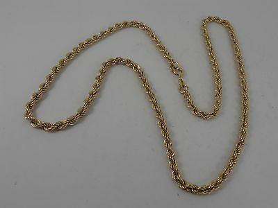 """9ct YELLOW GOLD ROPE LINK NECK CHAIN 18"""" ROPE CHAIN"""