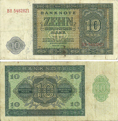 G-05-3, Germany 10 Marks (1948) Vf/circulated   Last One