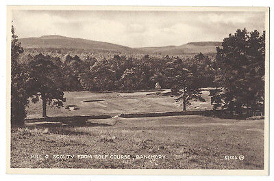 BANCHORY Hill O Scolty from Golf Course, RP Postcard by Valentine, Unused