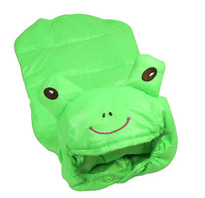 Dog Pet Clothes Apparel Green Waterproof Coat Frog Hoodie Warm Cartoon Outfit XL