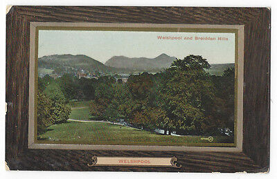 WELSHPOOL Breidden Hills, Old Postcard by Valentine Posted 1912, Cuilsfield p/m