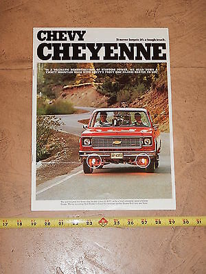ORIGINAL 1973 CHEVROLET TRUCK AUTOMOBILE DEALER SALES BROCHURE (lot 286)