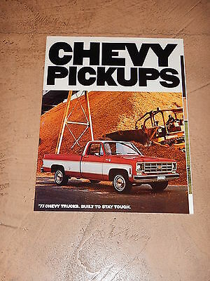 ORIGINAL 1977 CHEVROLET TRUCK AUTOMOBILE DEALER SALES BROCHURE (lot 187)
